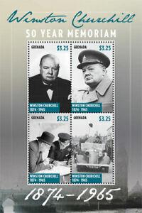 Grenada - 2015 - Winston Churchill In Memoriam - Sheet Of 4 - MNH