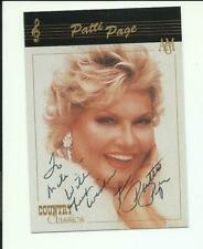 Patti Page-hand-signed 1992 Collect-A-Card