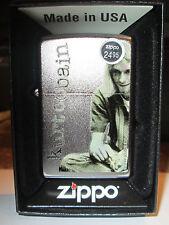 Kurt Cobain Zippo Lighter Authentic 2013 Licensed Rock N Roll Nirvana Satin