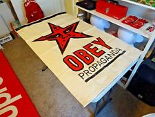 2010 NEW 5 FT OBEY SHEPARD FAIREY ANDRE THE GIANT CANVAS SCREENPRINT FLAG BANNER