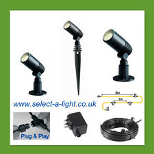 Techmar Garden Spot Lights ALDER (3 Set) Plug & Play System