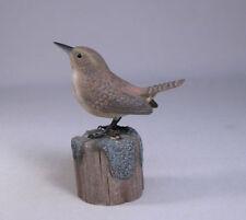 Rock Wren Backyard Bird Wood Carving/Birdhug
