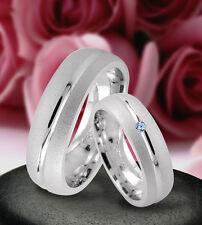 Trauringe  Eheringe Verlobungsringe mit echten Blautopas , Silber 925 , J9-1B