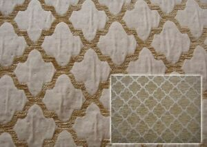 """Fawn Hermitage Reversible Chenille Upholstery Fabrics 58"""" wide fabric by the"""