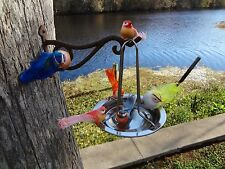 ( two) stainless steel hanging bird bath, and waterer. the latest proven design