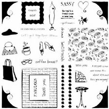 FISKARS Clear Stamps  GIRLFRIENDS  Huge 8x8 Set  SASSY!
