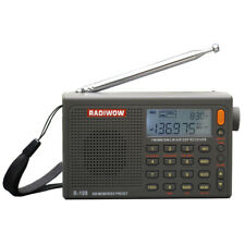 RADIWOW R-108 Radio Digital AM FM Portable Stereo AIR Band LCD Display Receiver