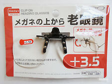 Daiso Japan +3.5 OPTICAL CLIP ON READING GLASSES Flip-up Magnifying