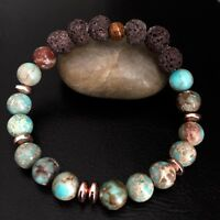 Essential Oil Diffuser Bracelet Jasper Gemstone Lava Rock Beaded Jewelry Gift