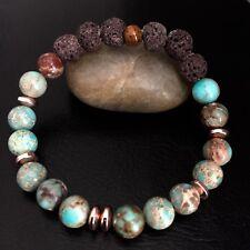 Aromatherapy Jasper Bead Lava Stone Bracelet Chakra Balance Healing  Meditation