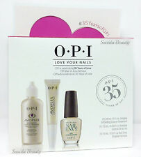 OPI LOVE YOUR NAILS Trio Kit - Exfoliate + Cuticle Oil To Go + Envy Original