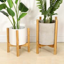Wooden Shelf Rack Holder Plant Flower Pot Stand Wood Garden Home Display Tool