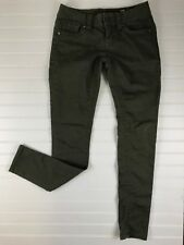 Women's MISS ME Army Green Jeans Pants Size 25 Stretch Signature Skinny E73