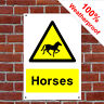 Horses sign or self adhesive vinyl sticker COUN0005 durable and weatherproof