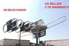 HDTV Outdoor Amplified 1080P HD TV Antenna Digital UHF/VHF/FM 360°Rotor 150 Mile
