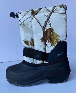 Kamik Real Tree Rocket 2 Max-5 Winter Boots Big Kids 3 4 New Waterproof Camo Boy
