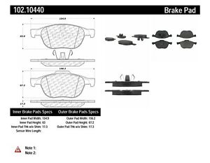 Disc Brake Pad Set-C-TEK Metallic Brake Pads Front Centric 102.10440
