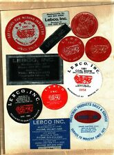 Lot Of 12 Nice Ky. & Benton Il. Lebco Inc. Coal Mining Stickers # 1058