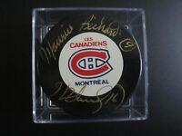 MAURICE & HENRI RICHARD Autograph Montreal Canadiens Puck