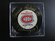 MAURICE & HENRI RICHARD Autograph Montreal Canadiens Puck