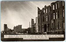 SAN FRANCISCO Earthquake 1906  Ruins CONCORDIA CLUB Van Ness ~ Rieder Postcard