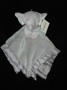 Carters Gray Elephant Security Blanket Baby Lovey White Ears NWT