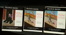 FRANCIS BACON L'ART DE L'IMPOSSIBLE LES SENTIERS DE LA CREATION SKIRA 2 vol 1976