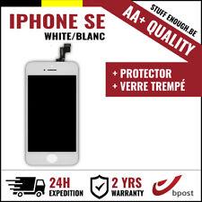 AA+ LCD TOUCH SCREEN SCHERM ÉCRAN WHITE BLANC &VERRE TREMPÉ FOR IPHONE SE/5S