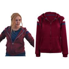 Wanda Vision-Scarlet Witch Hoodie Cosplay Costume Zip Up Jacket Coat
