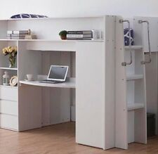 Single loft bunk with loads of storage with bottom desk New Design Kids New Des