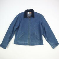 Vtg Big Ben Wrangler Blanket Lined Denim Jacket Paint Distress Full Zip Mens 44
