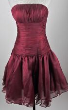 Light In The Box Strapless Burgundy Formal Party Dress Size 6 (S) Pleated CLASSY