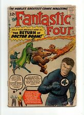 Fantastic Four #10 Vintage Marvel Key 1st Jack Kirby & Stan Lee in Comics Silver