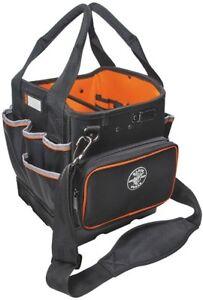 Klein Tools Tool Tote Organizer Shoulder Strap Bag Storage 40 Pockets Pouch Zip