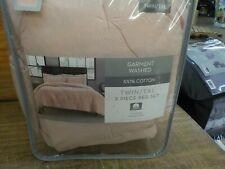 Garment Washed Solid Twin/Twin XL Comforter Set in Blush