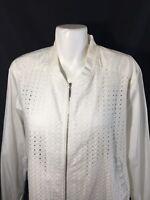 ac822a723d591 Abound Women White Wind Braker Zip Up Retail  45 Exposed Zipper Size XL