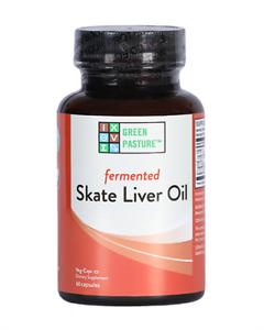Skate Liver Oil Fermented Green Pasture Blue Ice 120 capsules (Non-Gelatin) AU