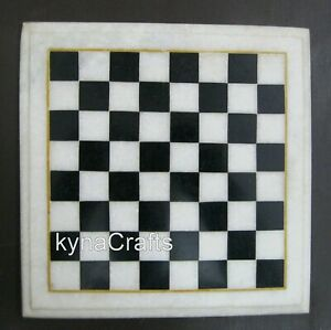 09 Inches Marble Sofa Side Table Chess Design Coffee Table Top for Chess Player