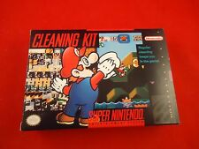 Super Nintendo SNES System & Game Cleaning Kit Empty Box ONLY Mario Design