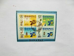 BAHAMAS: 1985  Youth Year sheet with 4 stamps VFU  MS707