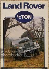 LAND ROVER ½ TON 4x4 Sales Brochure May 1980 #LR/124/5-80/5M