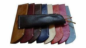 Slim glasses case 68 SOLD specs reading Real leather sun sleeve pouch Unisex UK