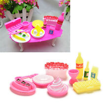 10 Pcs / set Accessoires de modèle Barbies Kids Dollhouse Kitchen Supplies