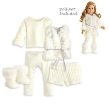 "American Girl MY AG WINTER WHITE OUTFIT TM for 18"" Dolls Winter Snowy Isabelle"