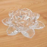 Cristal Fleur de Lotus Porte-Bougie Chandelier Bougeoir Feng-Shui Prière