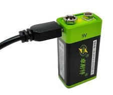 ZNTER 9V 600mAh Micro-USB Rechargeable Lithium-Polymer Li-Po Battery