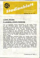 DFB-Pokal 91/92 SpVgg 07 Ludwigsburg - Eintracht Braunschweig, 28.07.1991