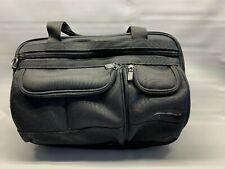 Eddie Bauer Black PC Lap Top Computer Bag Case Nylon Zipper Pockets Expandable