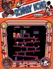 "TIN SIGN ""Donkey Kong""  Video Games Art Deco Garage Wall Decor"