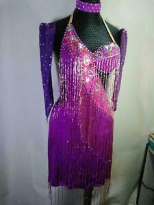 "S57 Hot sale latin Dance Dress Bust 34"" Waist 28"" Hip 37"" Length same picture"